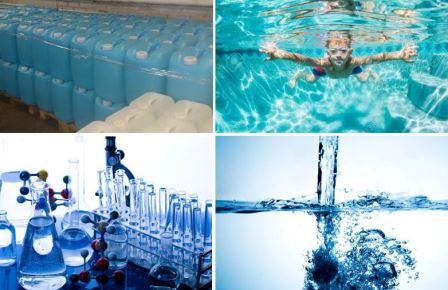 Очистка воды в бассейне перекисью водорода