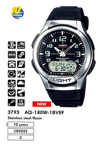Casio Illuminator Aq-180w инструкция